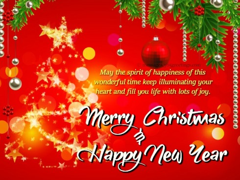 34+ Free merry christmas happy new year clipart information