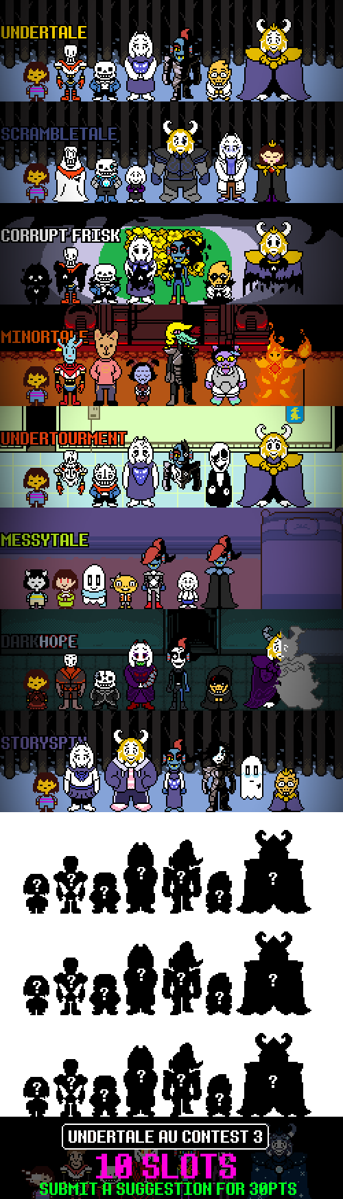 Undertale AU List 3 : The return of the list OPEN by Toreodere on
