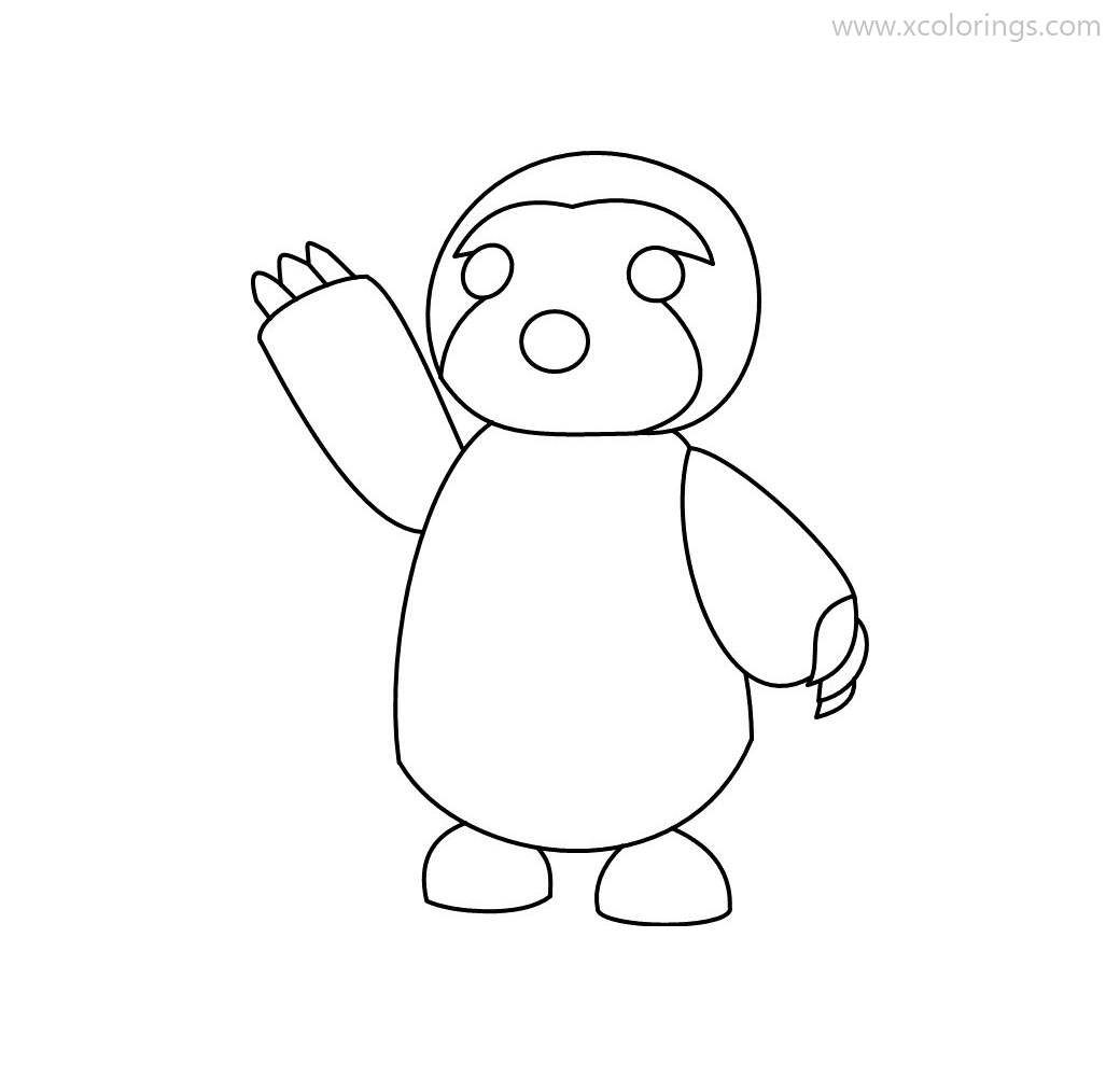 Roblox Adopt Me Coloring Pages Sloth Coloring Pages Pets Drawing Club Color