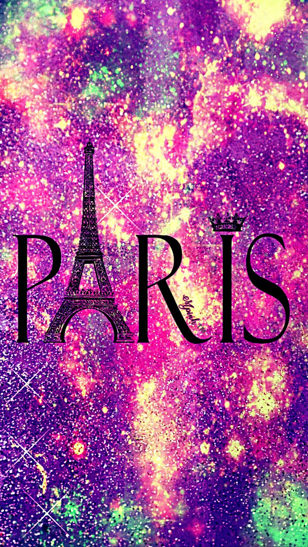 Shimmer Paris Galaxy Wallpaper androidwallpaper