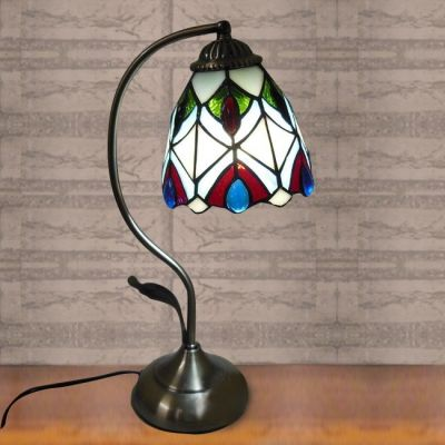 Buy 6 inch peacock stained glass tiffany style banker piano table buy 6 inch peacock stained glass tiffany style banker piano table lamp with lowest price and mozeypictures Gallery
