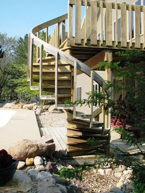 Best Stairs From Upper Deck Patio To Lower I Have Had This 400 x 300