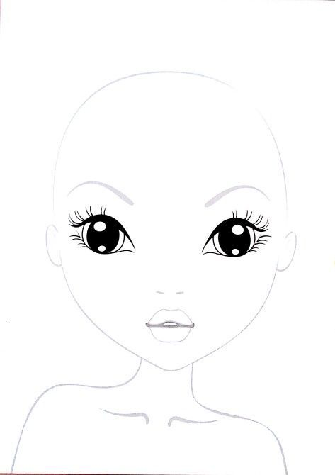 Ausmalbilder Topmodel Gesicht - Malvorlagen