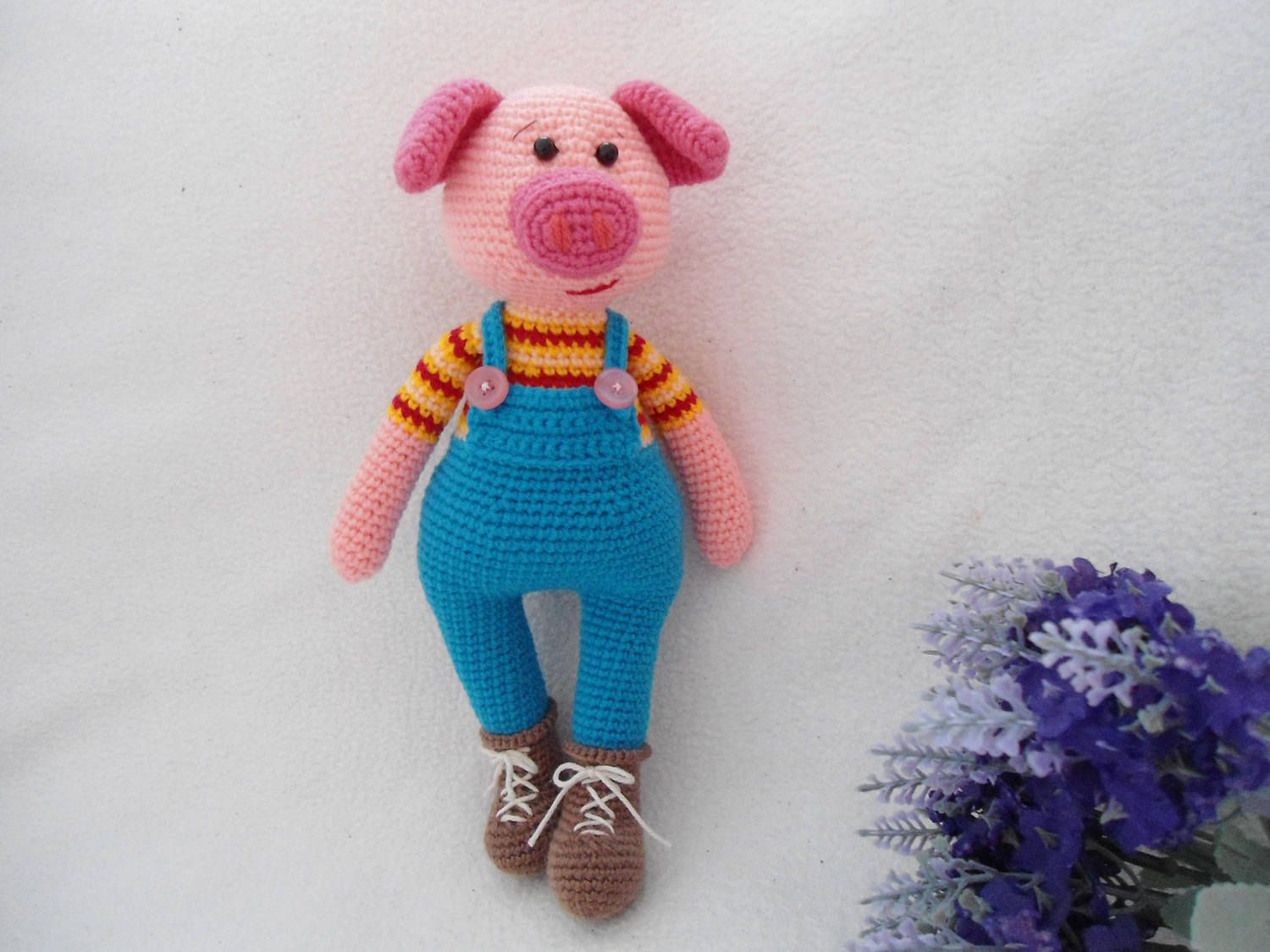 Lovely Pig crochet / Lucky pig pattern by suwannacraftshop on Etsy ...