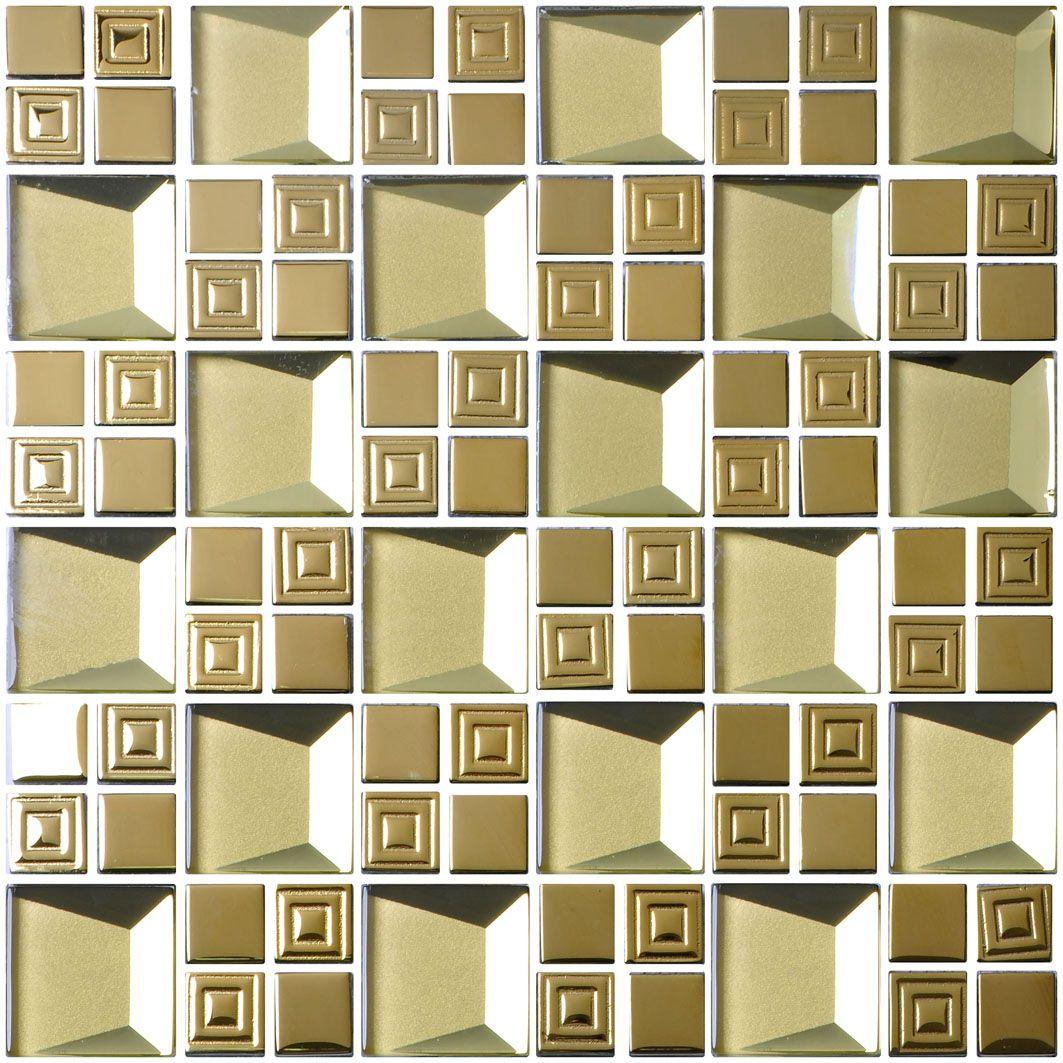 300*300*8 gold glass mosaic tile. | Mosaic glass, Mosaic ...