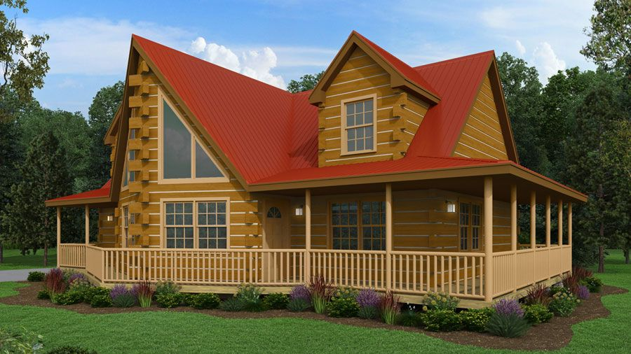 Gorgeous 4 Bedroom, 2 Bath, 2 Story Log Home   The New Log