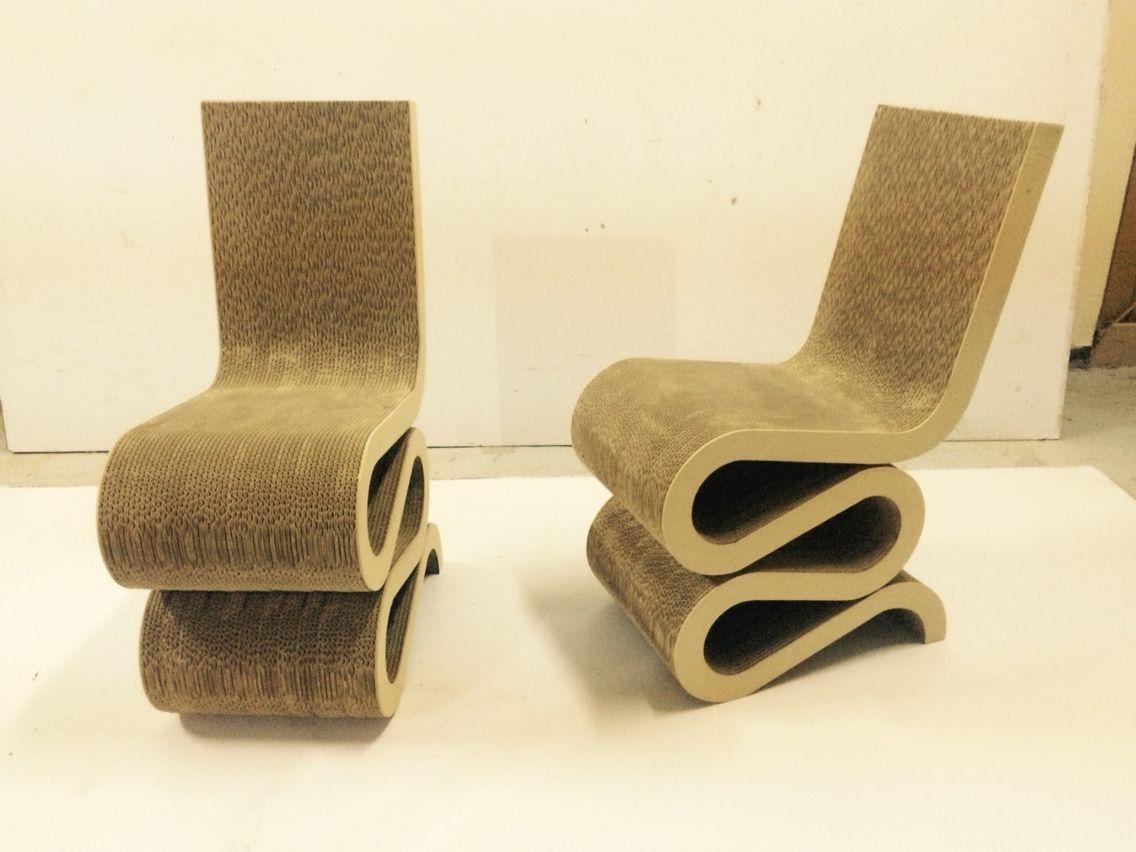 Silla Tributo A Frank Gehry 100 Carton Solo En Ecokraft  # Frank Gehry Muebles De Carton