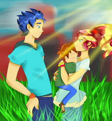 Size 2405x2619 Tagged Artist Paulysentry Flashimmer Flash Sentry Humanized Oc Safe Shipping My Little Pony Comic Sunset Shimmer Mlp Equestria Girls