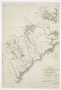 A Map Of Those Parts Of Virginia Northcarolina Southcarolina