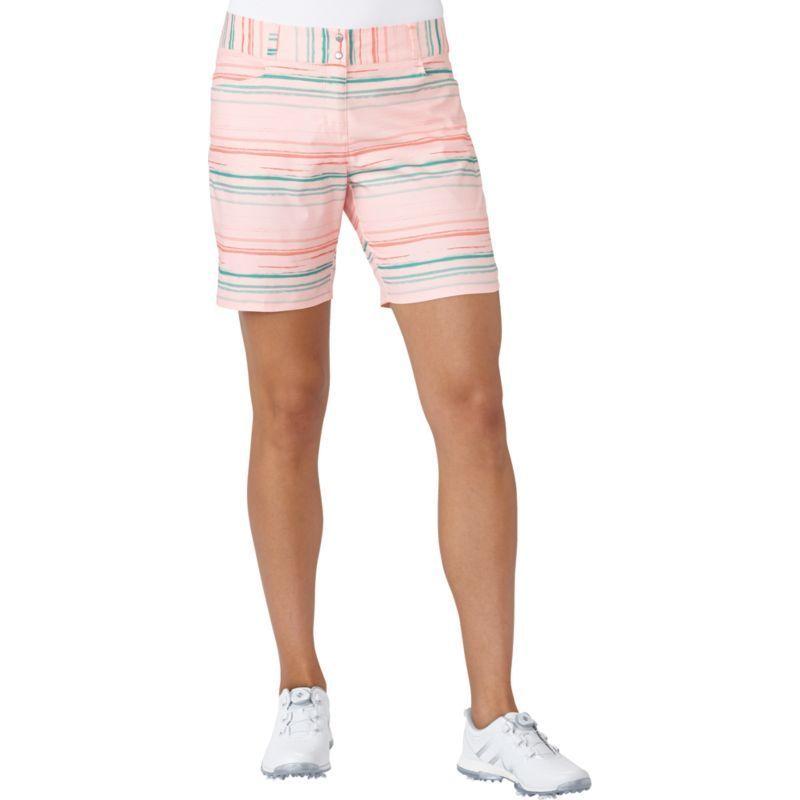 adidas donne è essenziale stampato golf pantaloncini, dimensioni: 12, haze coral