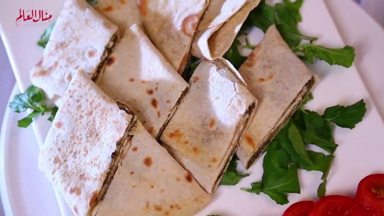 خبز الصاج او العيش السوري عيش الشاورما الحلقة 172 مطبخ تيك تاك Youtube Food Arabic Food Pizza Bread