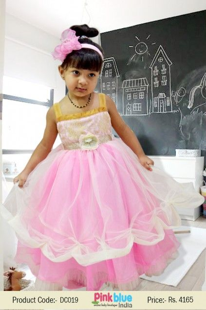 4de3b862d4e63 Designer Baby Girls #Dresses - Indian #Traditional Wear, Sleeveless Wedding  Dress, Princess Party Wear Dress, Baby #Outfits in Curtain Pattern, ...