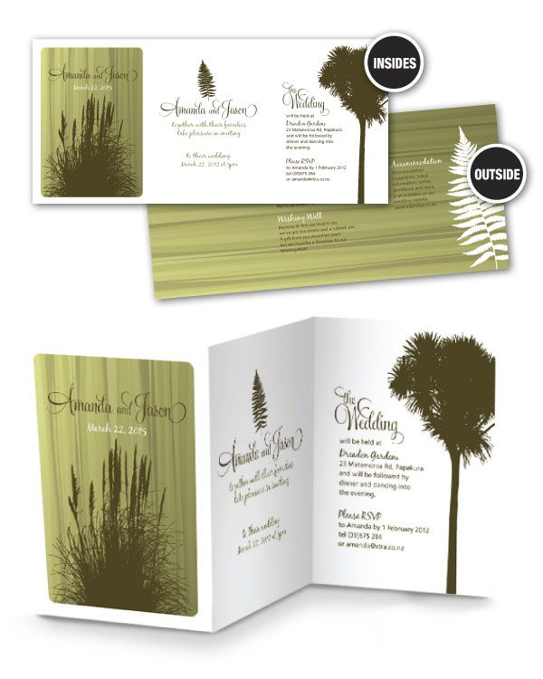 New Zealand Forest Wedding Invitation
