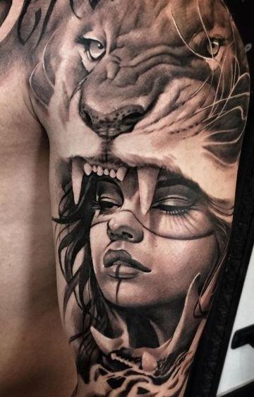 Originales Y Realistas Tatuajes De Mujeres Guerreras Tatuajes