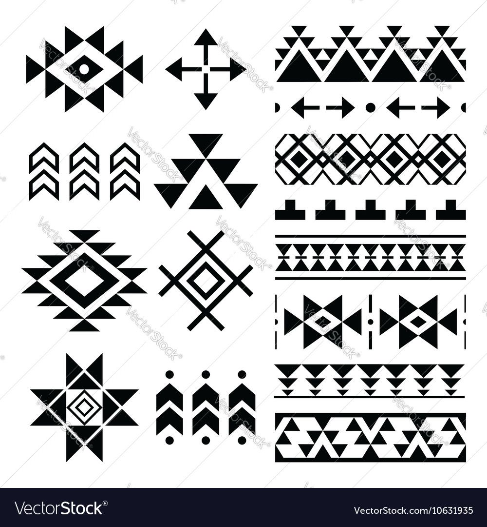 Image result for black and white aztec patterns Tribal