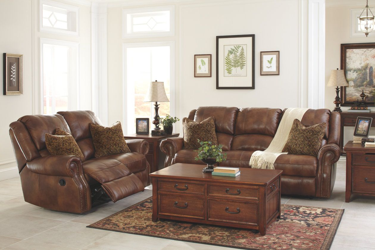 Walworth Reclining Sofa Ashley Furniture Homestore Couch Loveseat Ashley Furniture Sofas Leather Living Room Set