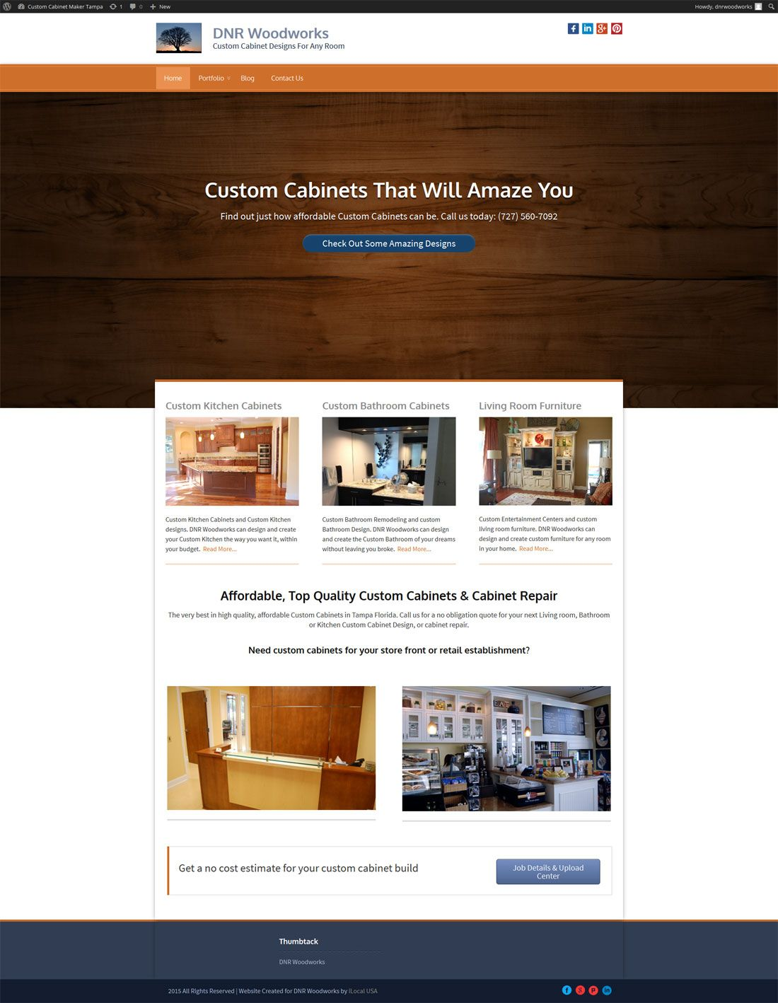 Best Dnr Woodworks Custom Cabinets Maker The Website We Made 400 x 300