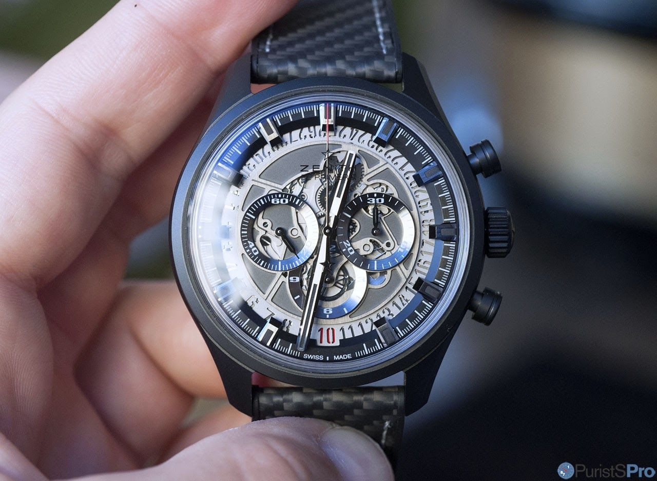 PuristSPro - The manufacture Zenith has today unveiled their newest timepiece, the Zenith El Primero Skeleton Ceramic , a modernist, contemporary watch which emphasies