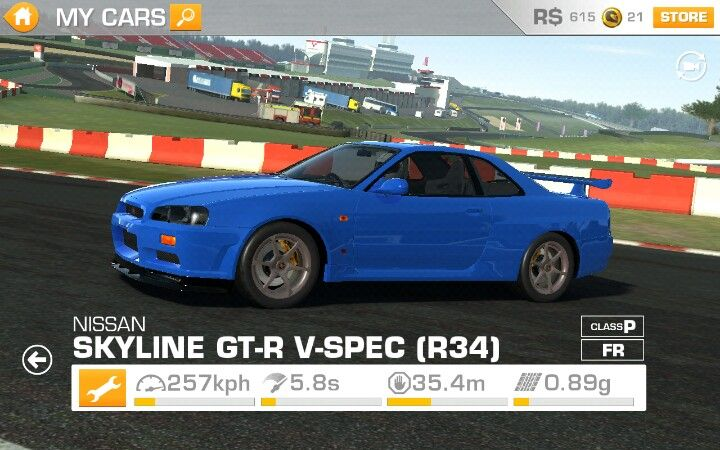 My New Car In Real Racing 3 Real Racing Skyline Gt New Cars