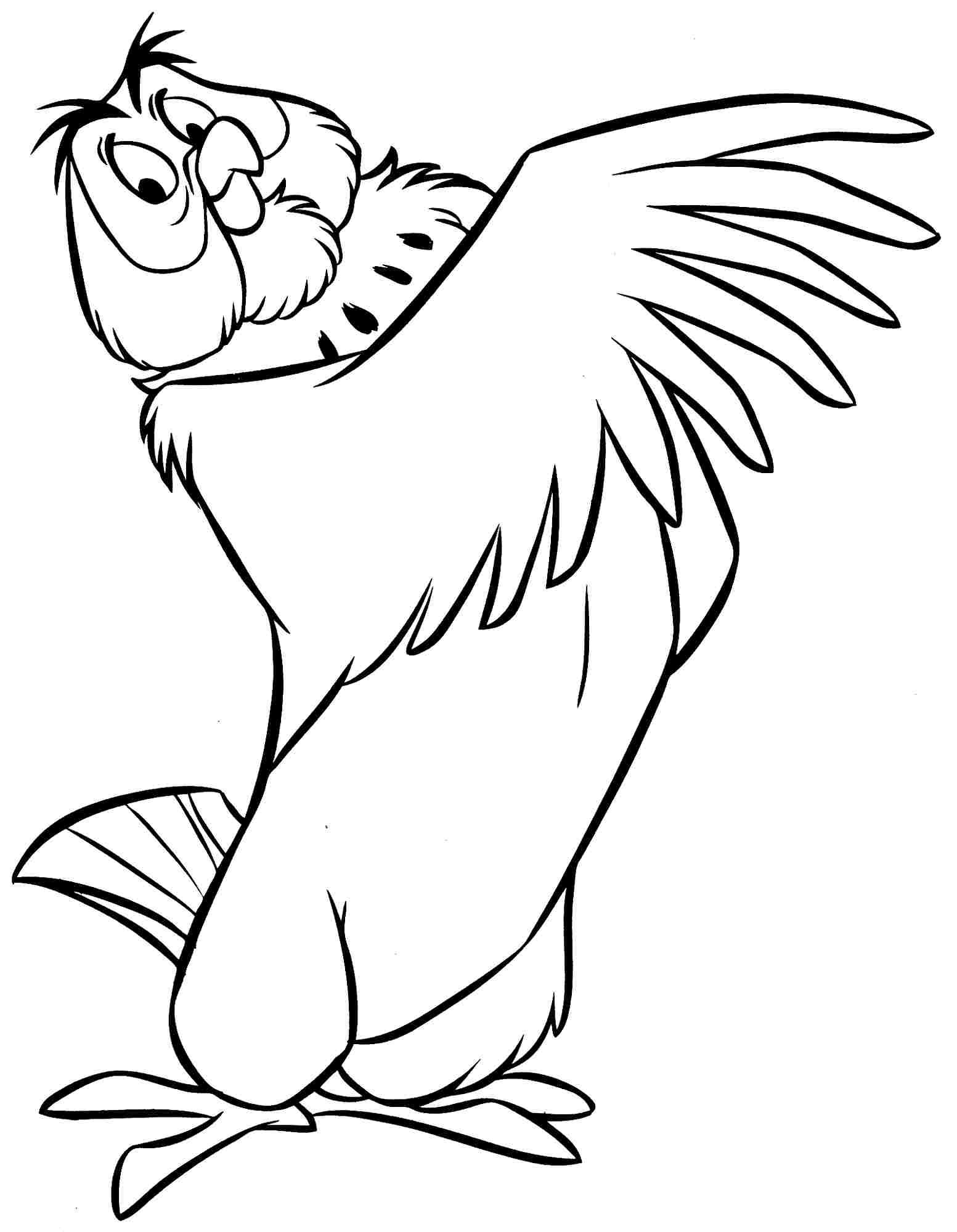 Winnie The Pooh Rabbit Coloring Pages Owl Outline Winnie The Pooh