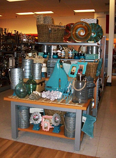 Beach Coastal Themed Merchandise Display Home Decor Tj Maxx Endcap