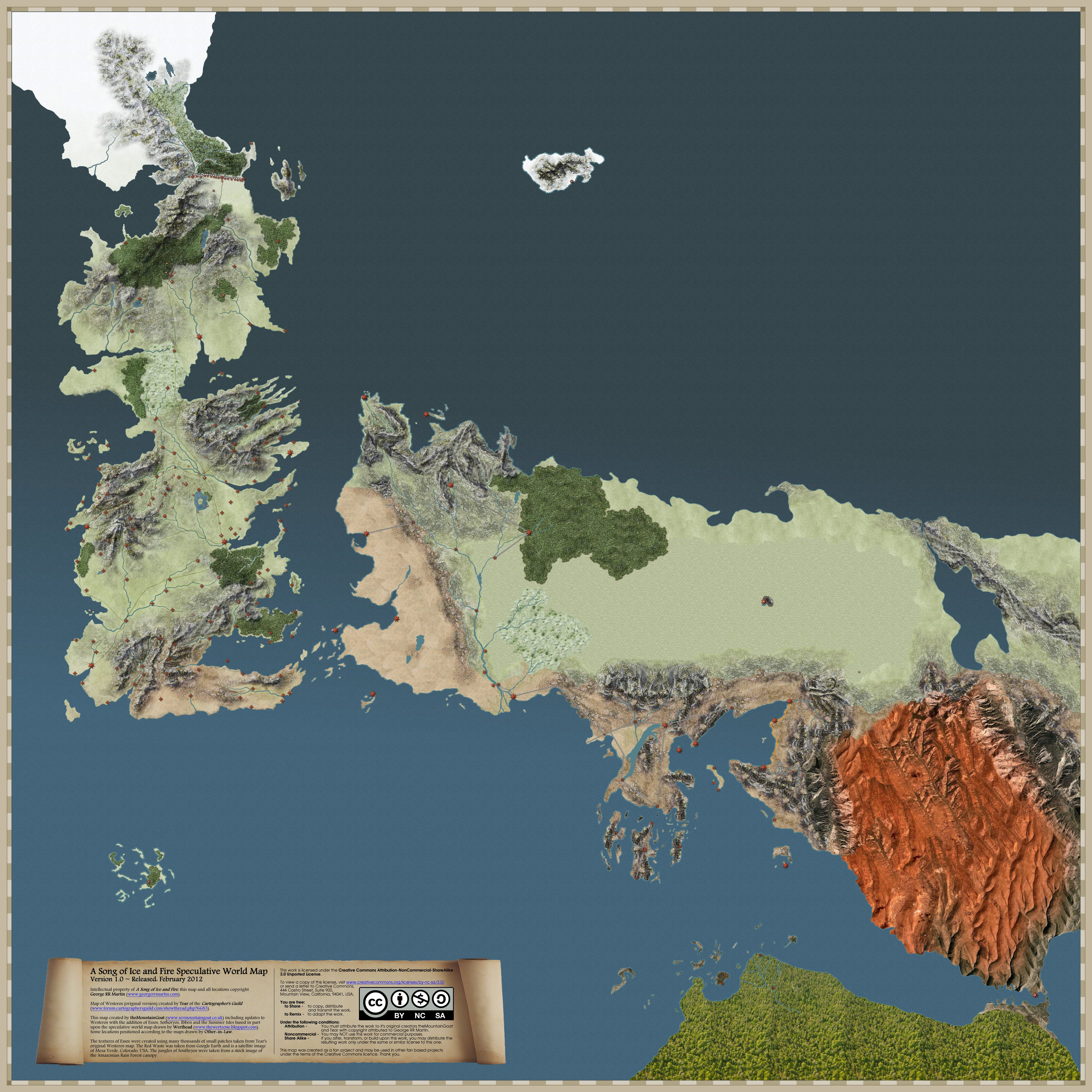 Song of ice and fire speculative world map a song of ice and song of ice and fire speculative world map gumiabroncs Image collections