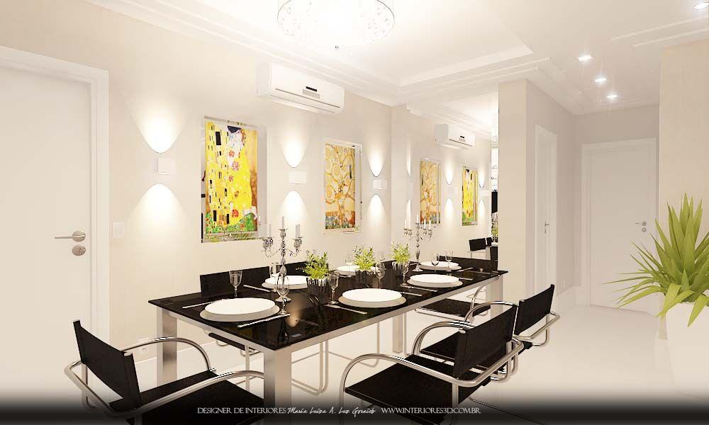 Projeto Decoracao De Interiores Sala De Estar E Jantar Moderna