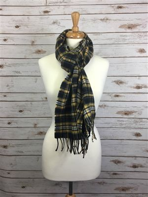 """Officially Licensed Purdue University Tartan Lambswool Scarf. Measures 78"""" x 12"""" plus fringe. For both men and women in the popular length for knotting around the neck for style and warmth. Boilermaker Proud!"""
