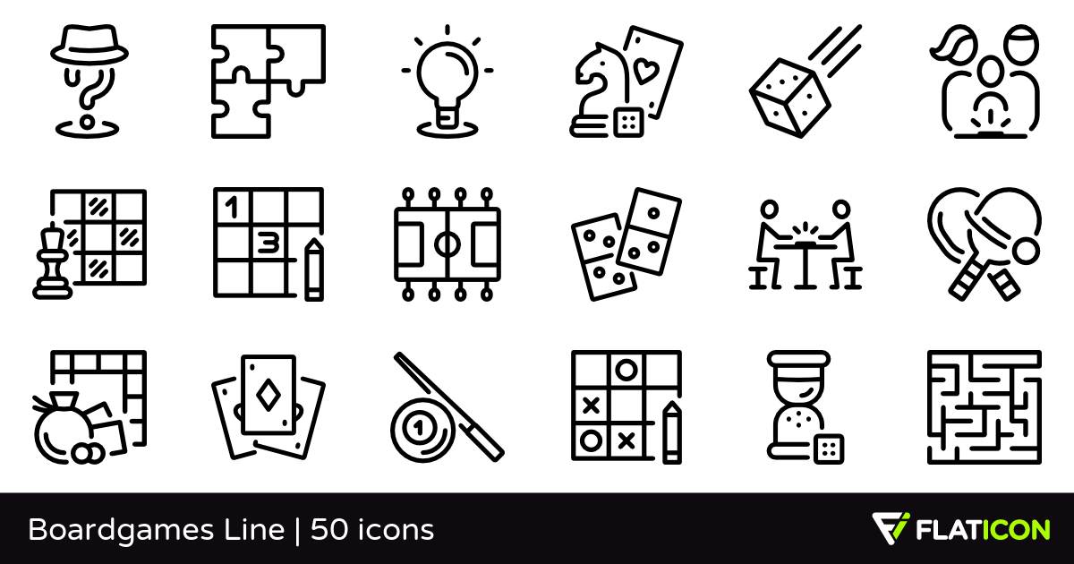 50 Free Vector Icons Of Boardgames Line Designed By Freepik Line Design Vector Free Icon