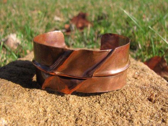 Foldformed Copper Cuff