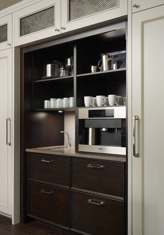 Coffee And Beverage Station Hickman Design Kitchens