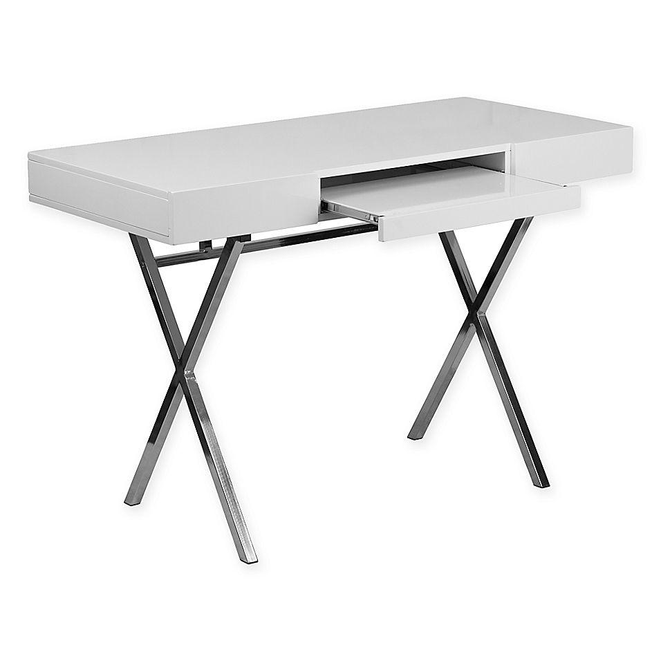 Flash Furniture Computer Desk With Keyboard Tray And Drawers In White Desk With Keyboard Tray Home Office Computer Desk White Desks