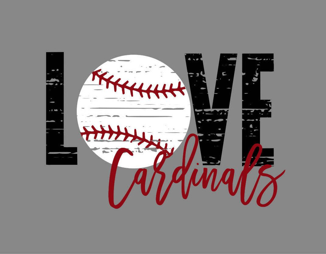 Download Love Cardinals Baseball Distressed SVG | Baseball ...