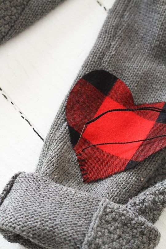 Wear your heart on sleeve diy elbow patches