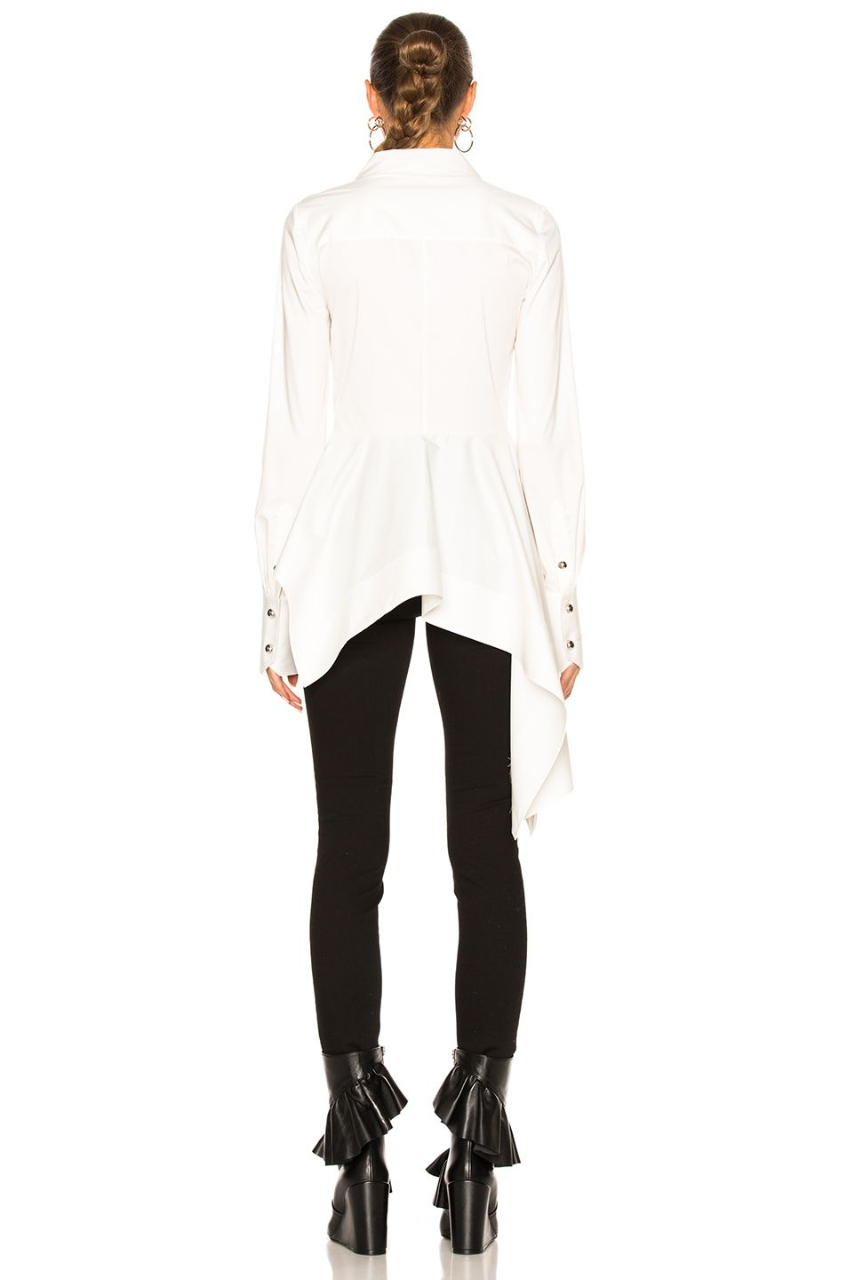 Image 4 of Monse Stretch Cotton Poplin Top in White