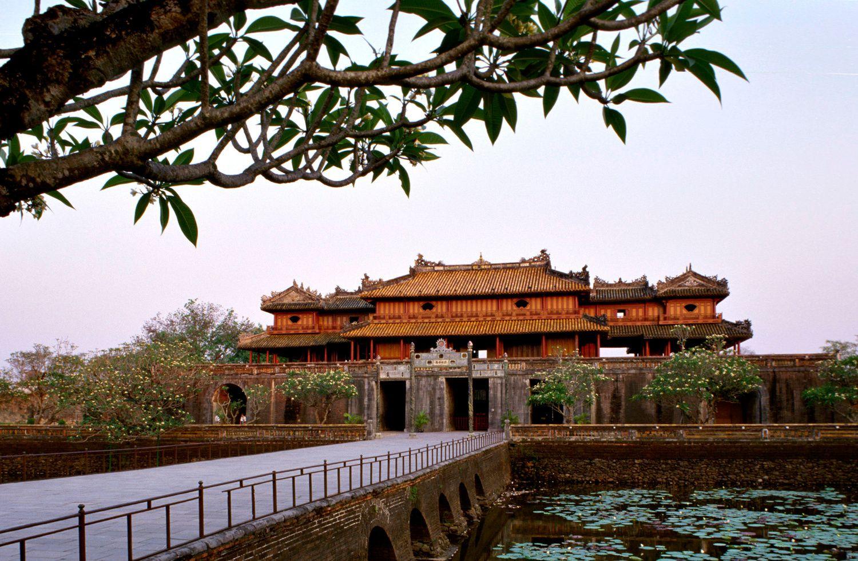 Purple Forbidden City Hue Vietnam Built Starting In 1804 By Emperor Gia Long Of The Nguyen Dynasty Vietnam Tours Vietnam World Heritage Sites