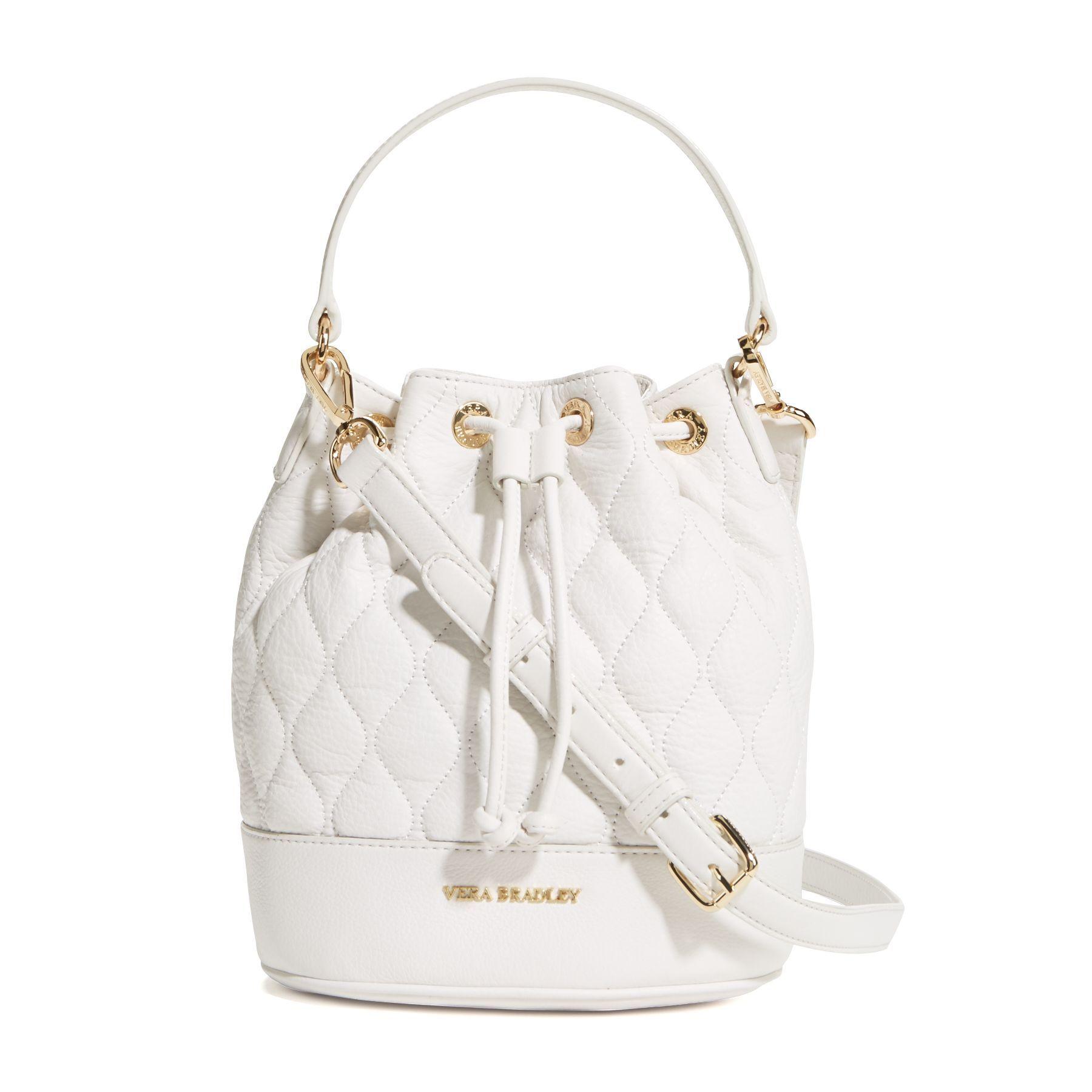Quilted Emerson Crossbody in White 47b4cac217406
