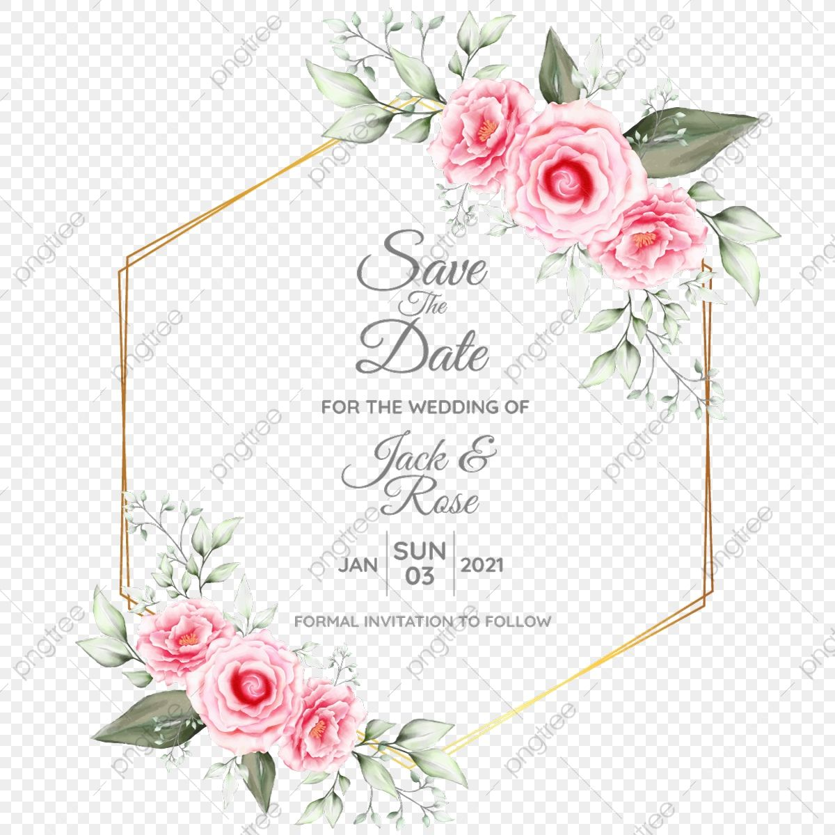 Watercolor Floral Cards Template With Geometric Golden Drawing Flower And Save The Date Multipurpose Floral Inv Floral Watercolor Floral Cards Flower Drawing