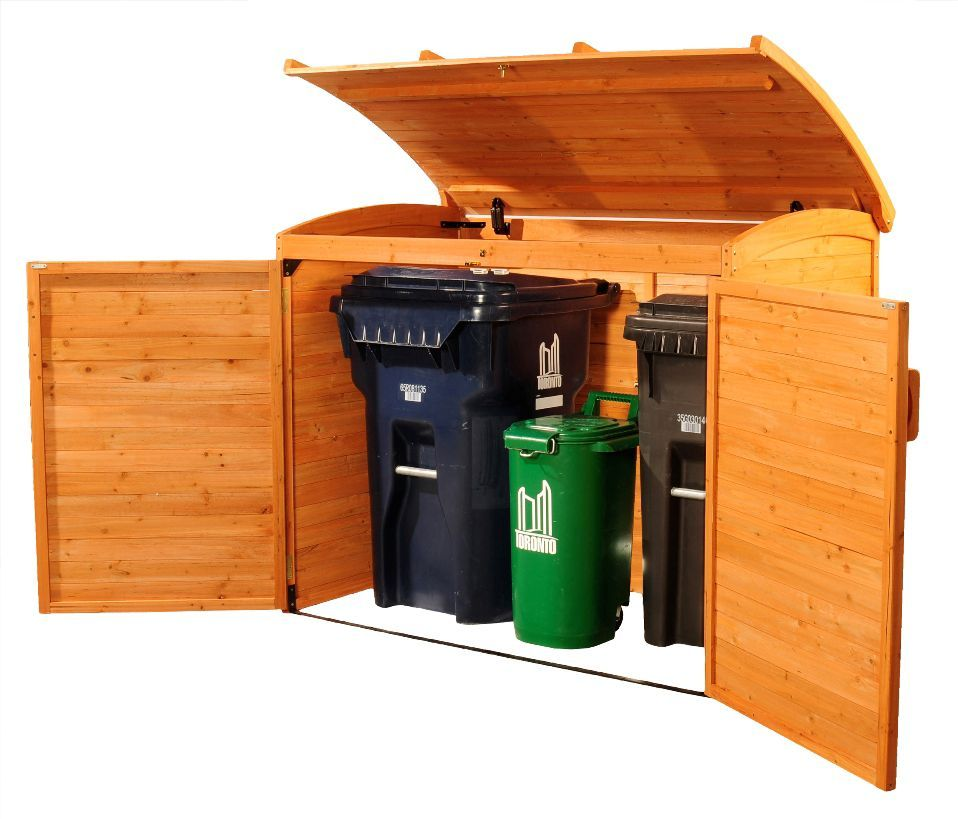 5 Ft 2 Inch X 2 Ft 10 Inch X 4 Ft Cypress Horizontal Refuse Storage Shed Storage Shed Wood Storage Sheds Shed Storage