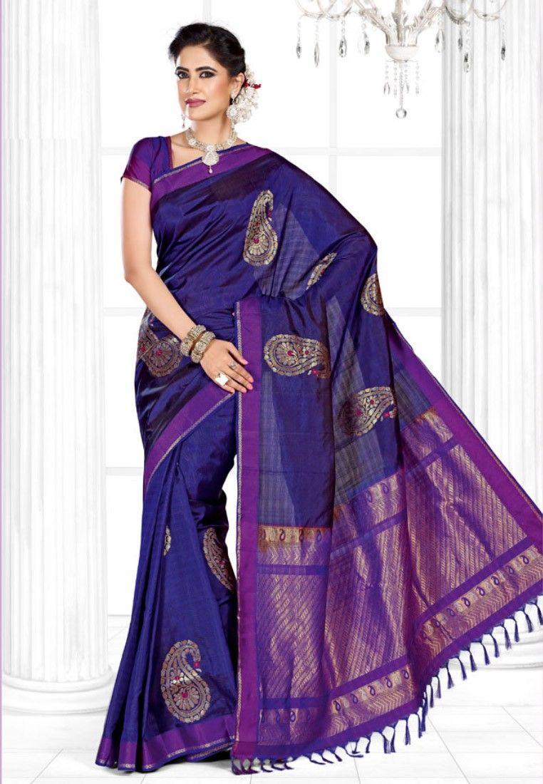 Pothys Indigo Blue Mayuri Menpattu Soft Silk Saree Footwear Jewellery Watches Sunglasses Bags Accessories Perfum Soft Silk Sarees Saree Saree Designs