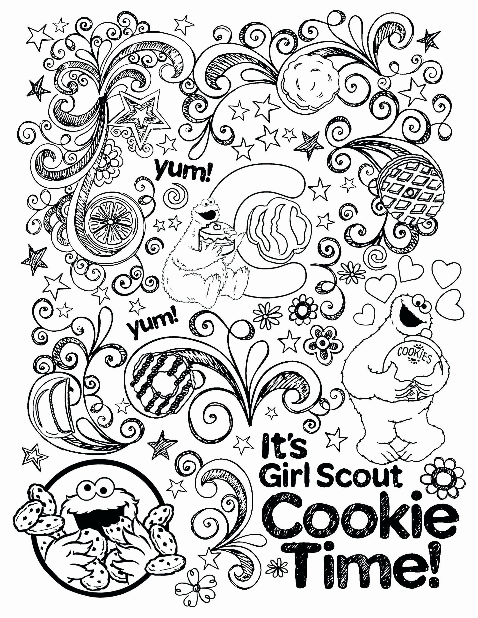Brownie Girl Scout Coloring Pages In
