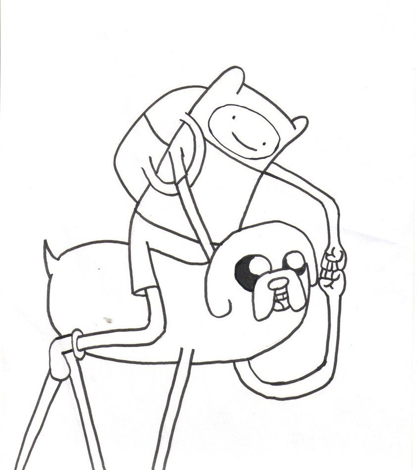 Cartoon Network Adventure Time Coloring Pages | Finn and Jake ...