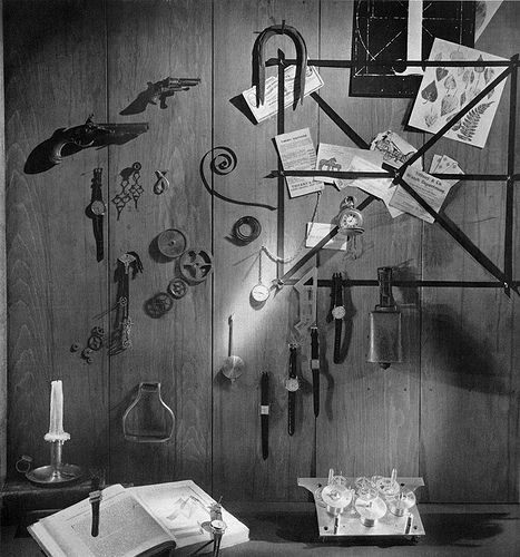 """GENE MOORE, (Tiffany&Co.), 1960, """"It's About Time"""", pinned by Ton van der Veer"""