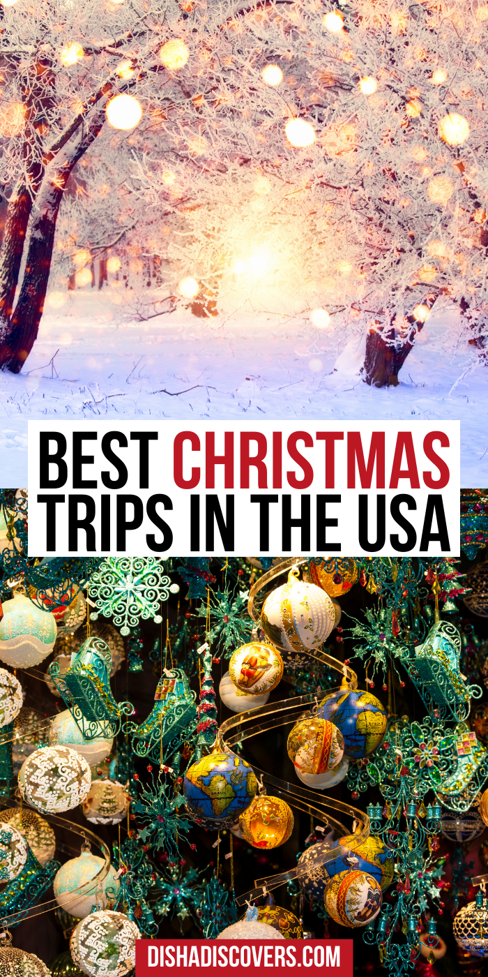 Usa Christmas Destinations 11 Of The Best Holiday Getaways In America In 2020 Christmas Destinations Christmas Travel Winter Travel Destinations