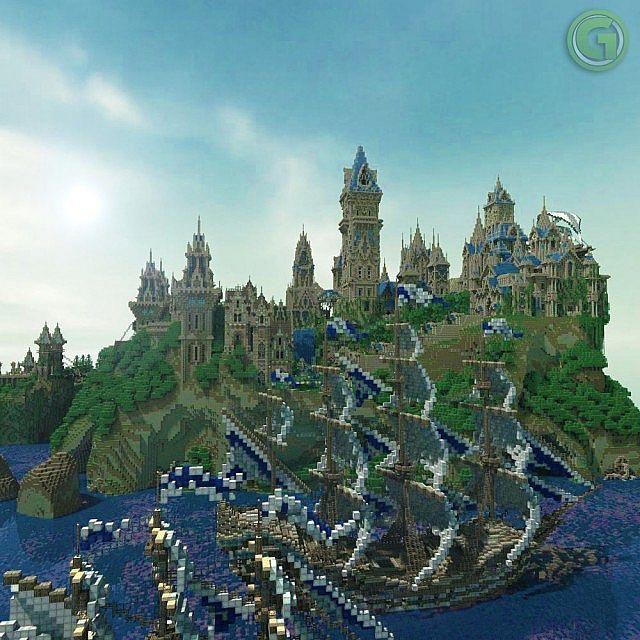 Minecraft Medieval City Download halion harbor | Minecr...