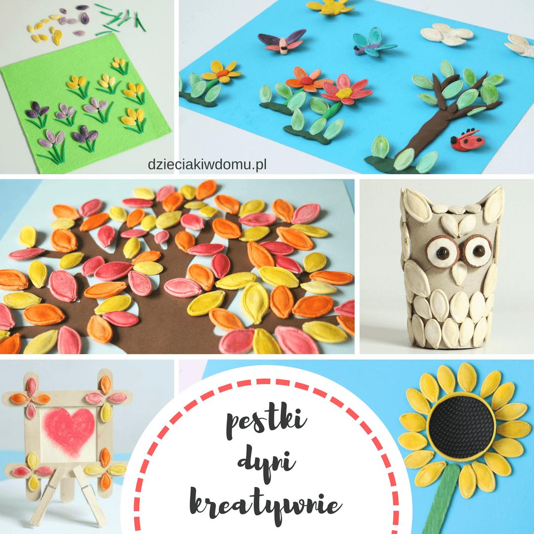 Prace Z Pestek Dyni Crafts Arts And Crafts Diy