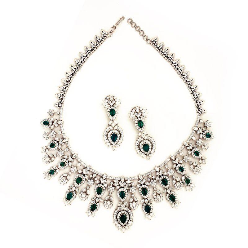 3bedf6527f Victorian Style Diamond Necklace set | jewelry | Jewelry, Diamond ...