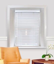 Gloss White Wire Free Electric Wooden Venetian Blind With 50mm Wide
