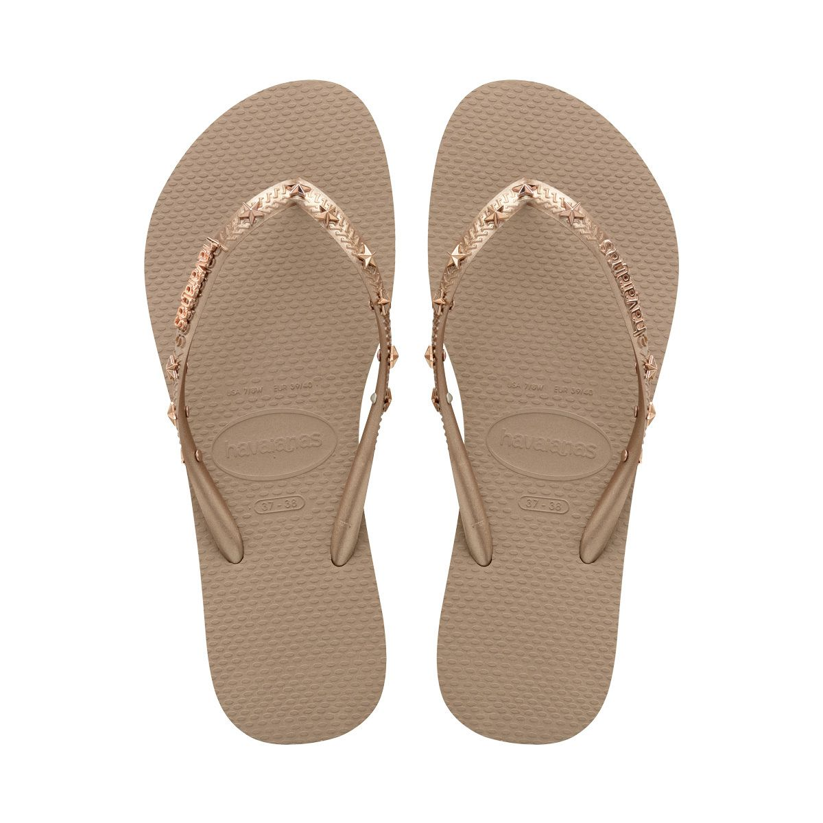Womens sandals walmart - The Slim Hardware Rose Gold Women S Flip Flops Sandals Havaianas