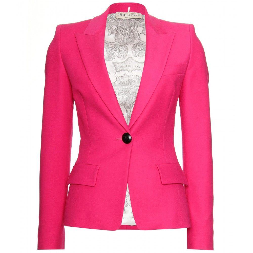 73381a1d715f COTTON BLAZER Emilio Pucci | Cute! in 2019 | Cotton blazer, Blazer ...